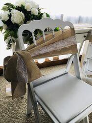 Burlap/Hessian Chair Sashes