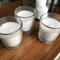 Clear Glass Votive Holders with candle
