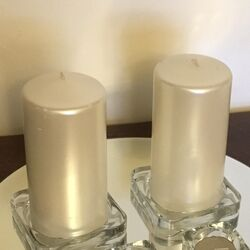 Glass Candle Plates