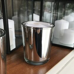 Silver Votive Holders with candle
