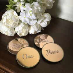 Rose Gold Mirror Numbers