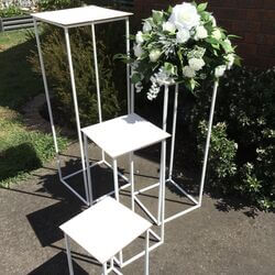 White Metal Display Stands