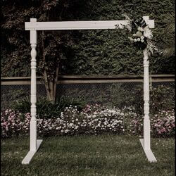 White Wooden Arbour