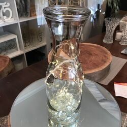 Wine Carafe 1L with Glass Beads and Wire lights
