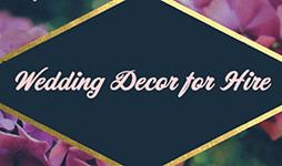 Wedding Decor for Hire